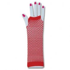 Fishnet Gloves (Red)